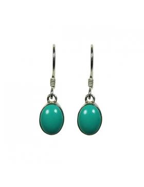 Boucles d'oreilles pierre turquoise