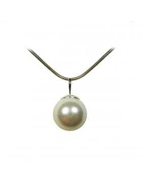 Pendentif perle nacre blanche