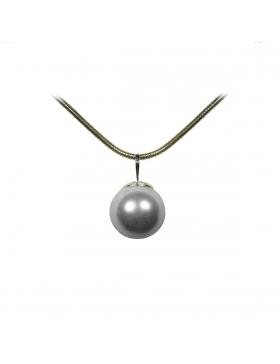 Pendentif perle nacre grise claire