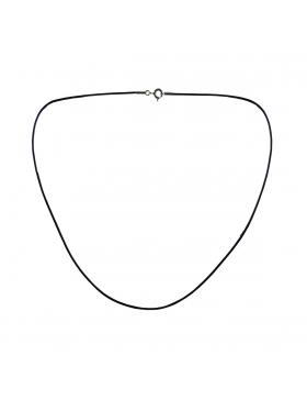 Cordon en cuir noir 45 cm