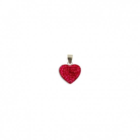 Bijoux strass et argent en c ur rouge - Dessin de petit coeur ...