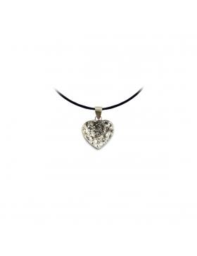 Bijoux oxyde de zirconium strass argent petit cœur blanc