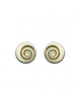 Clous boucles d'oreilles en oeil de Sainte - Lucie 6 mm rondes sans serti