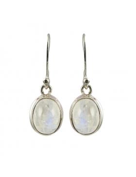 Boucle d'oreille - pierre de lune - argent