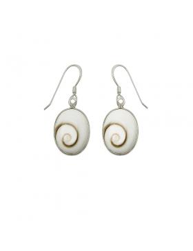 Boucles oreilles Oeil de Sainte Lucie forme ovale