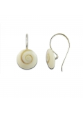 Boucles d'oreilles argent Oeil de Sainte Lucie