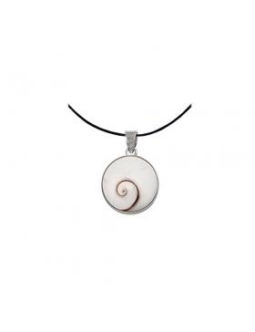 Pendentif Oeil de Sainte Lucie et argent - rond - diametre -1 cm