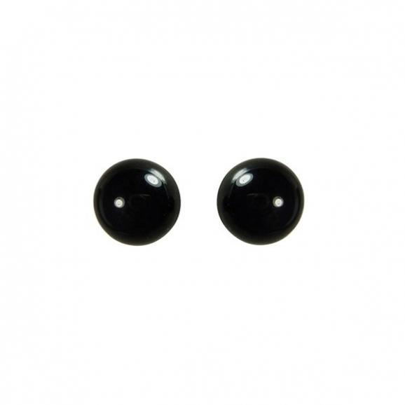 boucle d'oreille femme perle noire