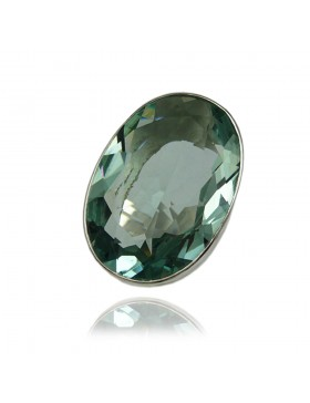 Bague en pierre obsidienne-pierre-fine-verte