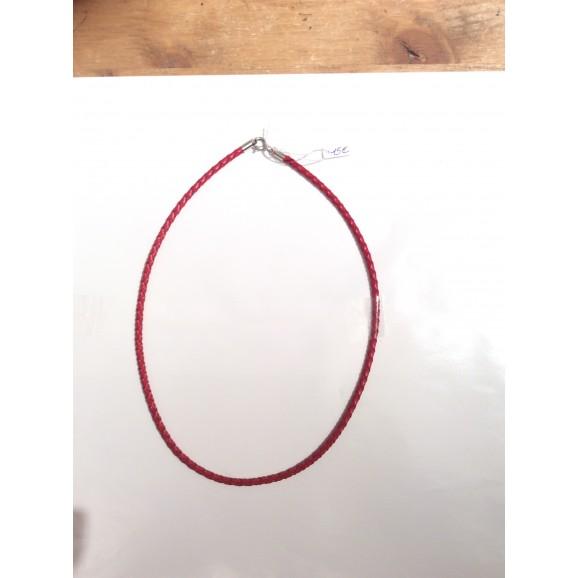 cordon rouge cuir tréssé