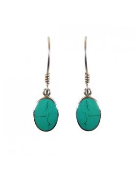 Boucles d'oreilles turquoise - Reflets de bijoux