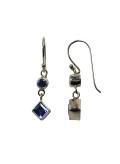 Boucles d'oreilles - pierre semi précieuse - quartz bleue et argent
