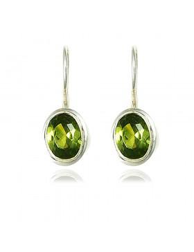 Boucles d'oreille péridot vert