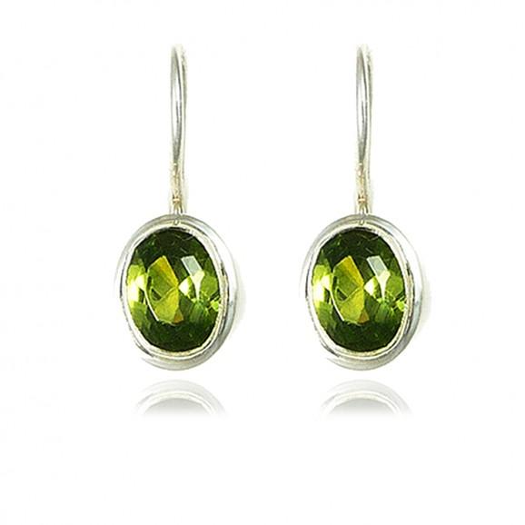 bijou boucles d'oreilles péridot vert