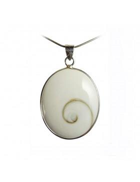 Ecrin pour pendentif en oeil de sainte lucie argent ovale
