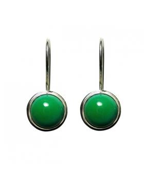 Boucles d'oreilles turquoise en argent