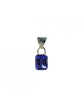 Bijou quartz bleu de Sibérie - Pendentif rectangulaire