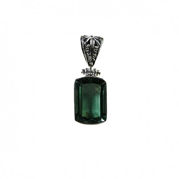pierre semi precieuse, pendentif quartz vert