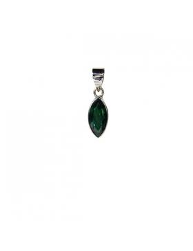 Pendentif en quartz vert et argent