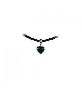 Pendentif quartz vert, argent