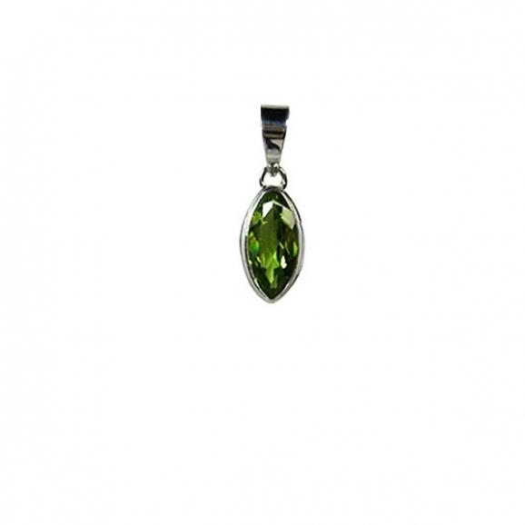 Péridot - pendentif en péridot vert
