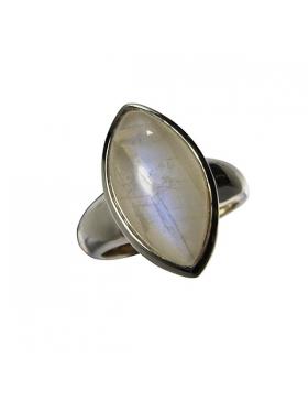 Bijou - bague pierre de lune et argent