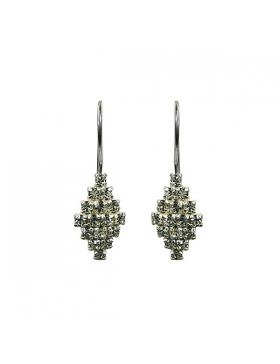 Bijoux zirconium, Boucles d'oreilles argent et oxyde de zirconium blanc