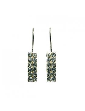 Superbe bijou en zirconium-Boucles d'oreilles argent et oxyde de zirconium.