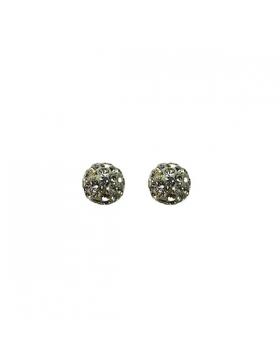 Boucles d'oreilles puce argent et oxyde de zirconium.