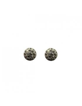Boucles d'oreilles puces argent et oxyde de zirconium.