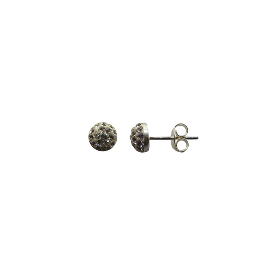 boucles d 39 oreilles puces argent et oxyde de zirconium. Black Bedroom Furniture Sets. Home Design Ideas