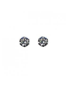 Petites boucles d'oreilles argent et oxyde de zirconium.