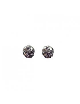 Boucles d'oreilles-Boules argent et oxyde de zirconium