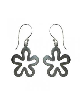 Boucles d'oreilles fleurs en argent, modernes