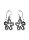 Boucles d'oreilles fleurs en argent