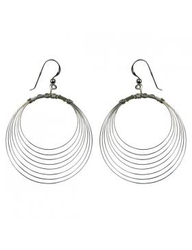 Boucles d'oreilles argent - spirales fines