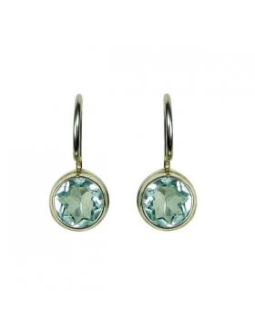 Bijoux - Boucles d'oreilles topaze bleue