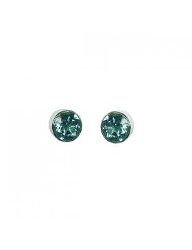 Topaze bleue – Boucles d'oreille-Argent