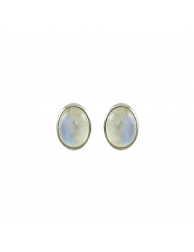 Boucles d'oreilles - clous - pierre de lune