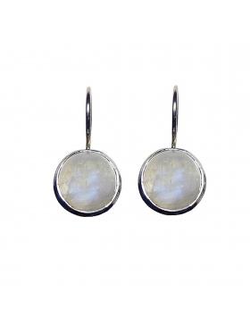 Boucles d'oreilles pierre de lune arc en ciel