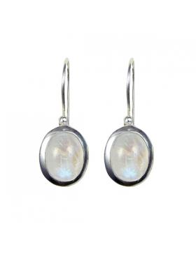 Boucles d'oreilles argent et pierre de lune.