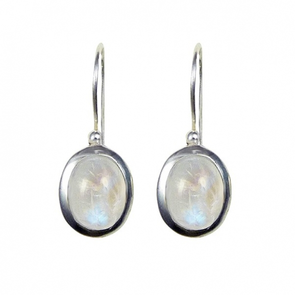 boucle oreille perle de lune
