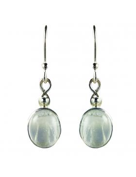 Boucle d'oreille pierre de lune ovales, argent