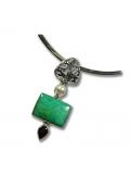 bijou pierre turquoise grenat et perle de culture
