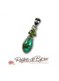 bijou pierre péridot et turquoise