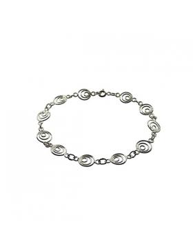 Bracelet argent spirales