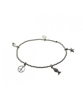 Bracelet breloques et argent