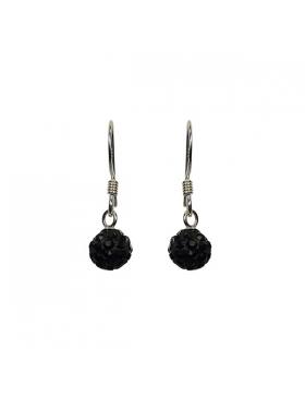 Boucles d'oreilles argent et oxyde de zirconium.