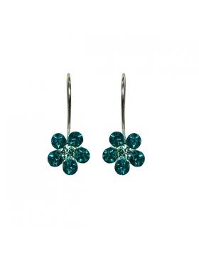 Bijoux zirconium – Boucles d'oreilles, argent et oxyde de zirconium.
