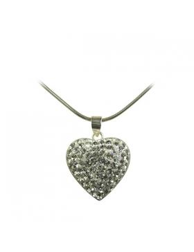Bijoux-coeur-strass, argent et oxyde de zirconium.